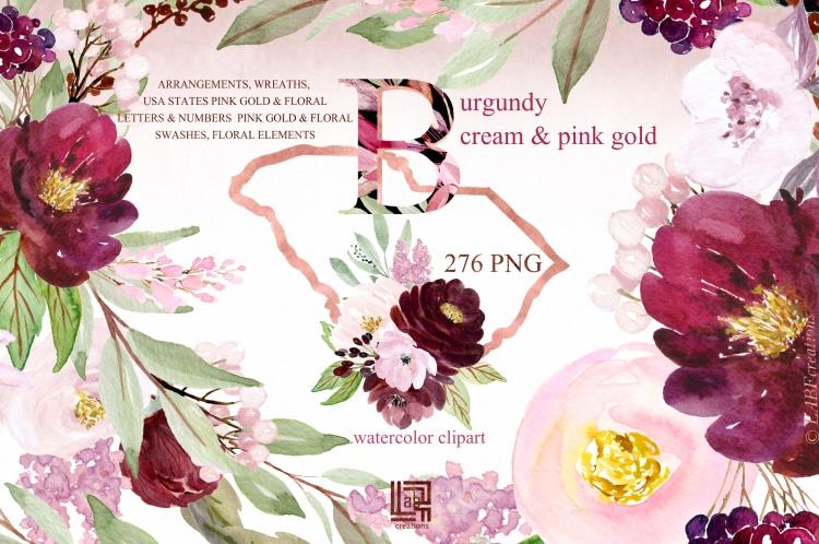 burgundy cream presentation 1 BIGGER