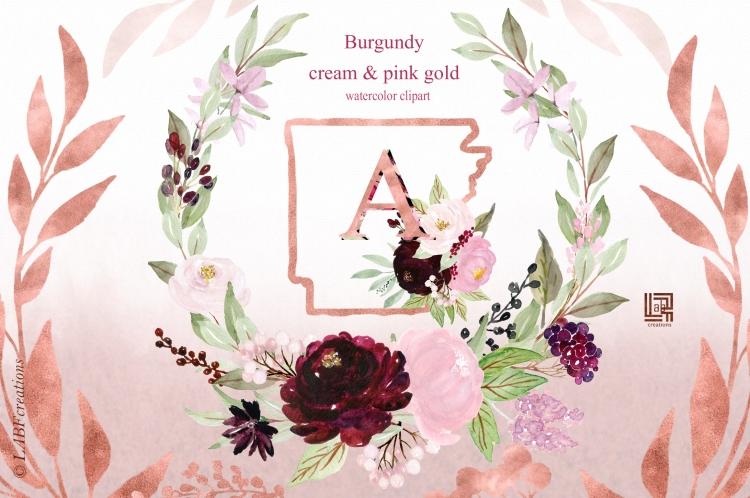 Etsy 3 burgundy cream presentation 3
